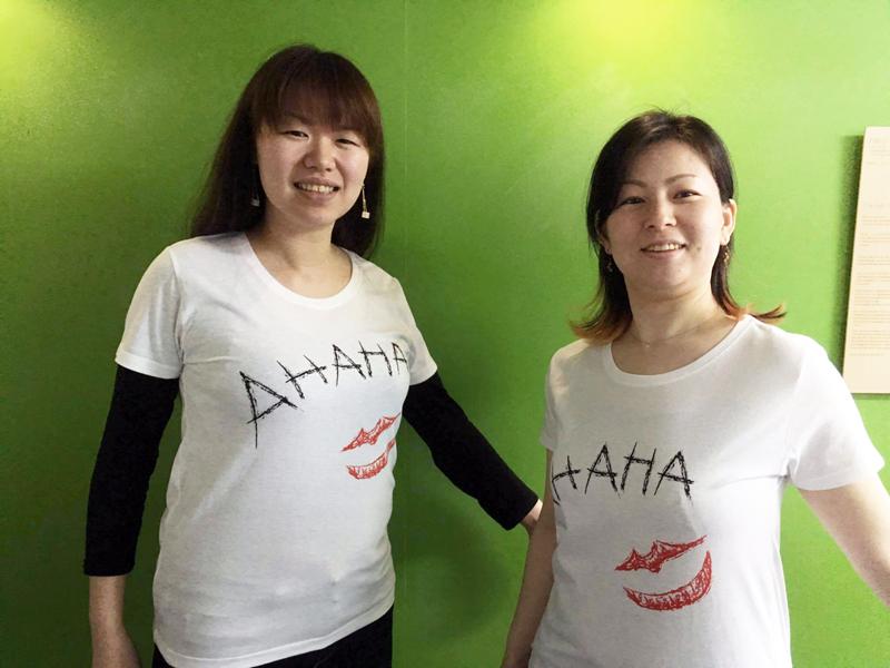シルクスクリーンでTシャツできましたー!(Design by HANZO DESIGN STUDIO)