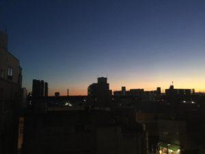 熊谷の夕焼け